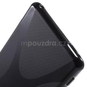 Čierny gélový obal pre Sony Xperia M4 Aqua - 3