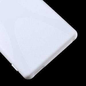 Biely gélový obal pre Sony Xperia M4 Aqua - 3
