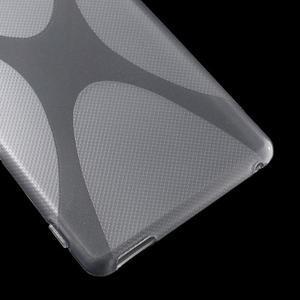 sivý gélový obal pre Sony Xperia M4 Aqua - 3