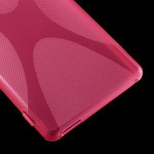 Rose gélový obal pre Sony Xperia M4 Aqua - 3
