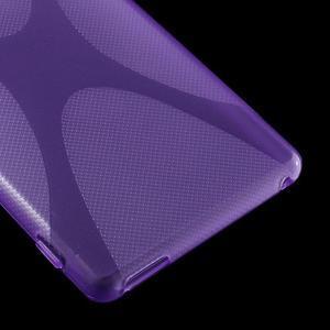 Fialový gélový obal pre Sony Xperia M4 Aqua - 3