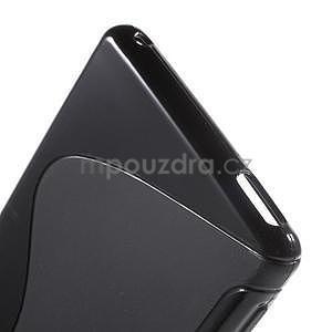 Černý s-line pružný obal na Sony Xperia M4 Aqua - 3