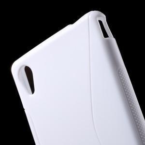 Biely s-line pružný obal pre Sony Xperia M4 Aqua - 3