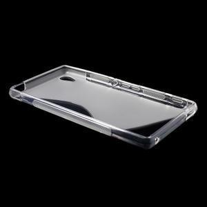 transparentné s-line pružný obal pre Sony Xperia M4 Aqua - 3