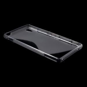 Šedý s-line pružný obal na Sony Xperia M4 Aqua - 3