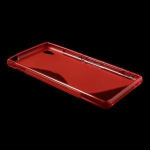Červený s-line pružný obal na Sony Xperia M4 Aqua - 3