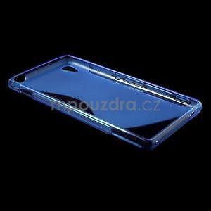 Modrý s-line pružný obal pre Sony Xperia M4 Aqua - 3