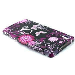 Gelový kryt na Sony Xperia M4 Aqua - květinoví motýlci - 3