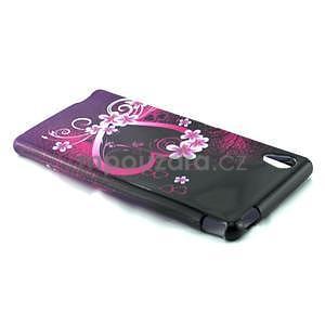 Gélový kryt pre Sony Xperia M4 Aqua - kvetinové srdce - 3