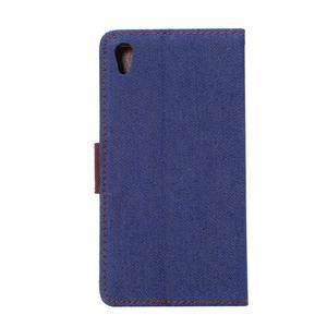 Jeans Peňaženkové puzdro Sony Xperia Z5 - tmavomodré - 3