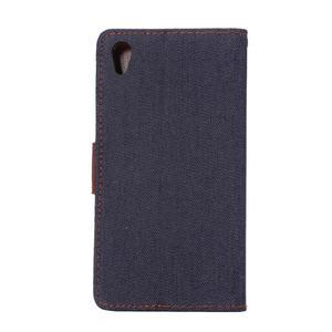 Jeans peněženkové pouzdro Sony Xperia Z5 - černomodré - 3