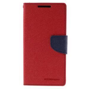 Mercur peněženkové pouzdro na Sony Xperia Z5 - červené - 3