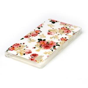 Softy gélový obal pre mobil Sony Xperia Z5 - kvetiny - 3