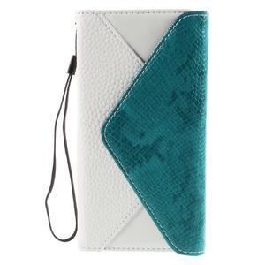 Štýlové Peňaženkové puzdro Sony Xperia Z5 - modré - 3