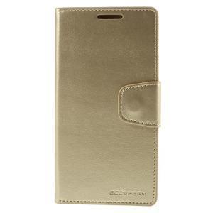 Sonata PU kožené peněženkové pouzdro na Sony Xperia Z5 - zlaté - 3