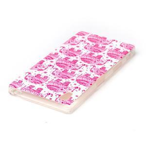 Softy gélový obal pre mobil Sony Xperia Z5 - ružoví - 3