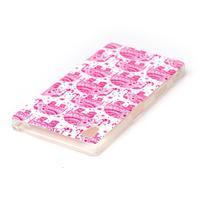Softy gélový obal pre mobil Sony Xperia Z5 - ružoví - 3/3
