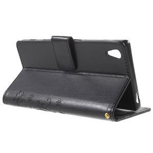 Butterfly PU kožené pouzdro na Sony Xperia Z5 - černé - 3
