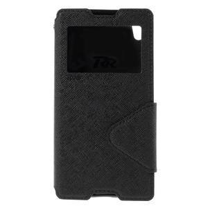 Diary puzdro s okienkom na Sony Xperia Z5 - čierne - 3