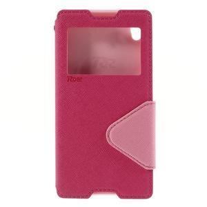 Diary pouzdro s okýnkem na Sony Xperia Z5 - rose - 3