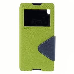 Diary pouzdro s okýnkem na Sony Xperia Z5 - zelené - 3