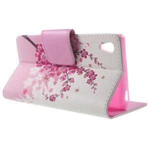 Lovely puzdro pre mobil Sony Xperia Z5 - kvitnúce vetvička - 3