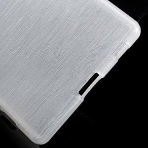Brush lesklý gélový obal pre Sony Xperia Z5 - biely - 3