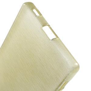 Brush lesklý gelový obal na Sony Xperia Z5 - champagne - 3