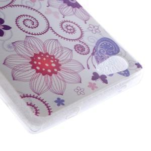 Gélový obal pre mobil Sony Xperia Z5 - kvetiny a motýľ - 3