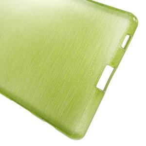 Brush lesklý gélový obal pre Sony Xperia Z5 - zelený - 3