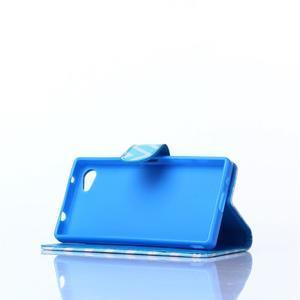 Sand puzdro pre mobil Sony Xperia Z5 Compact - modrý chevron - 3