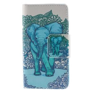 Diary Peňaženkové puzdro pre Sony Xperia Z5 Compact - slon - 3