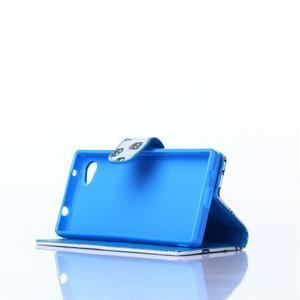 Sand puzdro pre mobil Sony Xperia Z5 Compact - modrá očká - 3