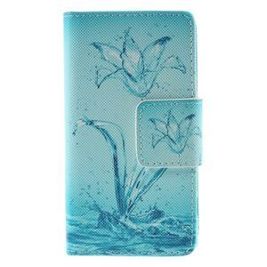 Diary peněženkové pouzdro na Sony Xperia Z5 Compact - vodní květ - 3