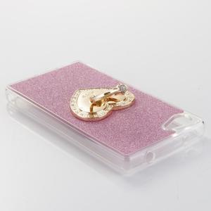 Love gélový obal s náprstkom na Sony Xperia Z5 Compact - ružový - 3