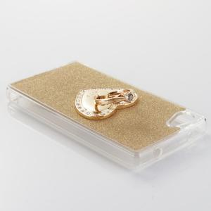 Love gelový obal s náprstkem na Sony Xperia Z5 Compact - zlatý - 3