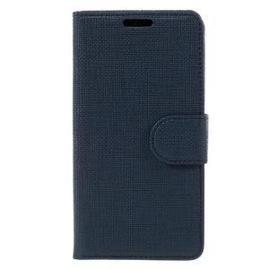 Grid Peňaženkové puzdro pre mobil Sony Xperia Z5 Compact - tmavomodré - 3