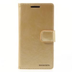 Bluemoon PU kožené puzdro pre Sony Xperia Z5 Compact - zlaté - 3