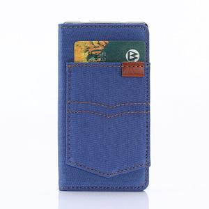 Stylové jeans pouzdro na mobil Sony Xperia Z5 Compact - modré - 3