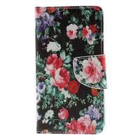 Wally Peňaženkové puzdro pre Sony Xperia Z5 Compact - kvetiny - 3/3