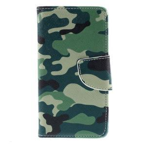 Wally Peňaženkové puzdro pre Sony Xperia Z5 Compact - kamufláž - 3