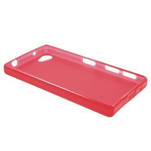 Matný gélový obal pre Sony Xperia Z5 Compact - červený - 3