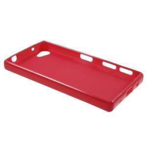 Solid lesklý gelový obal na mobi Sony Xperia Z5 Compact - červený - 3
