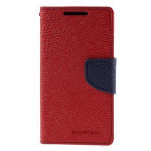 Fancy PU kožené puzdro pre Sony Xperia Z5 Compact - červené - 3