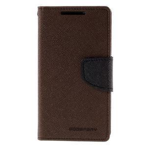 Fancy PU kožené puzdro pre Sony Xperia Z5 Compact - hnedé - 3