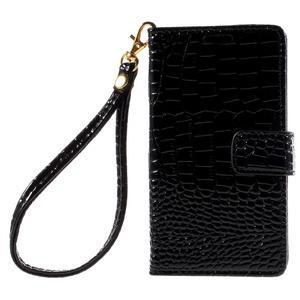 Croco Peňaženkové puzdro pre Sony Xperia Z5 Compact - čierne - 3
