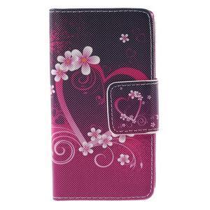 Diary Peňaženkové puzdro pre Sony Xperia Z5 Compact - srdce - 3