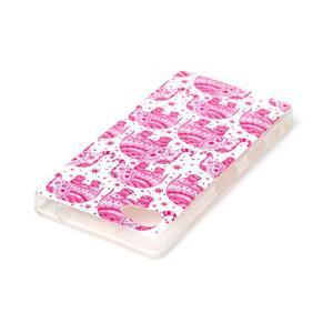 Sally gélový obal pre Sony Xperia Z5 Compact - ružoví slony - 3