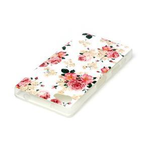Sally gélový obal pre Sony Xperia Z5 Compact - kvetiny - 3