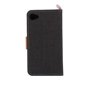 Cloth Peňaženkové puzdro pre mobil Sony Xperia Z5 Compact - čierne - 3